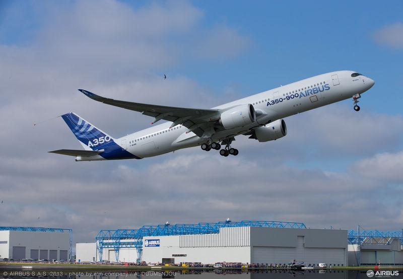 IL PRIMO AIRBUS A350 XWB DECOLLA PER IL SUO VOLO INAUGURALE