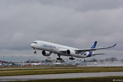 L'AIRBUS A350-1000 COMPLETA CON SUCCESSO IL SUO PRIMO VOLO