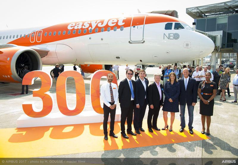 EASYJET RICEVE IL SUO PRIMO AIRBUS A320NEO, IL TRECENTESIMO AEROMOBILE CONSEGNATO ALLA COMPAGNIA