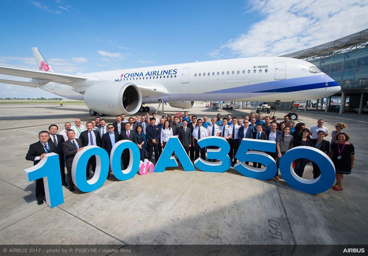 AIRBUS CONSEGNA IL 100° A350 XWB