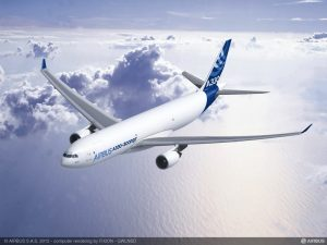 A330 300P2F in flight rendering