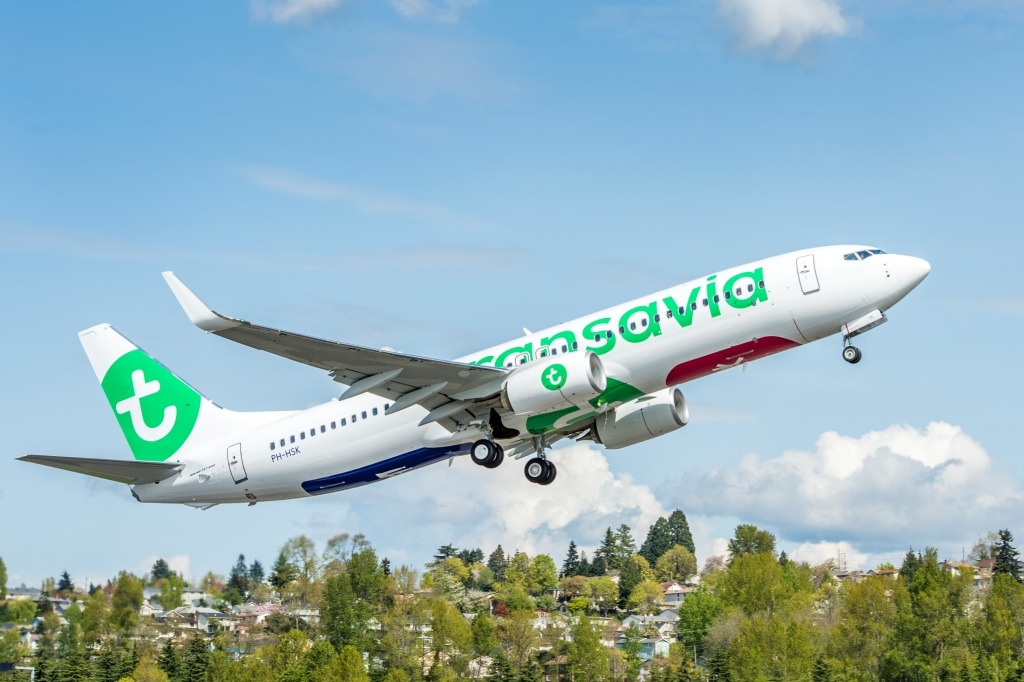 Transavia AV-YT196 737-800 Delivery Ribbon Cutting and Flyaway