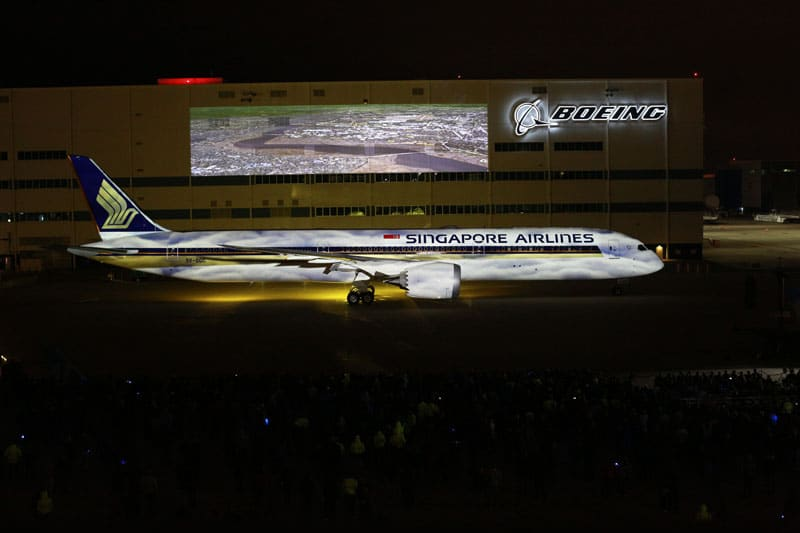 Singapore Airlines First 787 10
