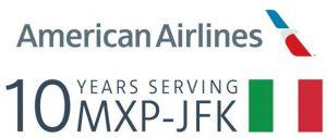 10 anni MXP JFK American Airlines