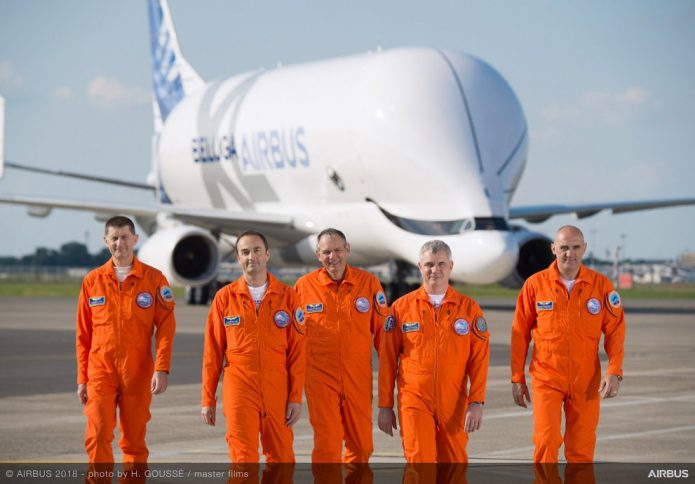 BelugaXL first flight crew 11
