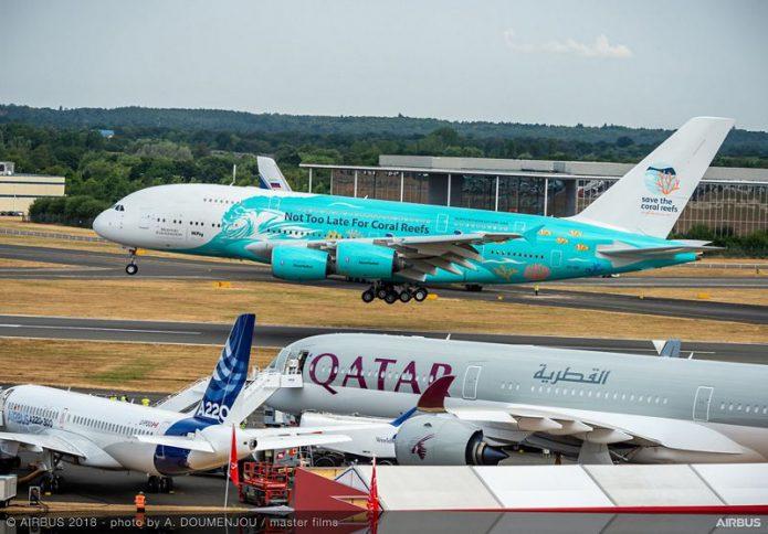 FIA 2018 A380 Hifly landing day 04 004