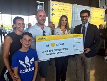 Vueling 2 milioni pax da Catania 2018