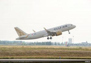 A320neo Gulf Air MSN 8323 take off 006