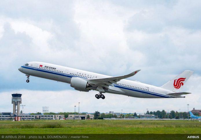 A350 900 Air China MSN167 take off