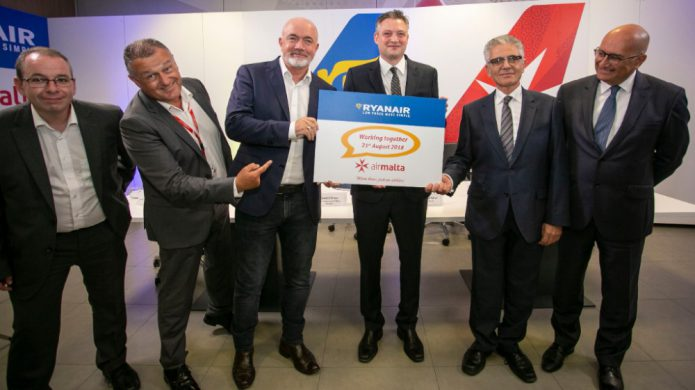 partnership Ryanair - Air Malta 2018