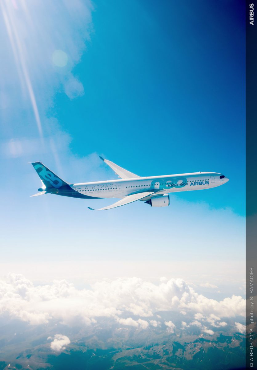 A330 900 in flight