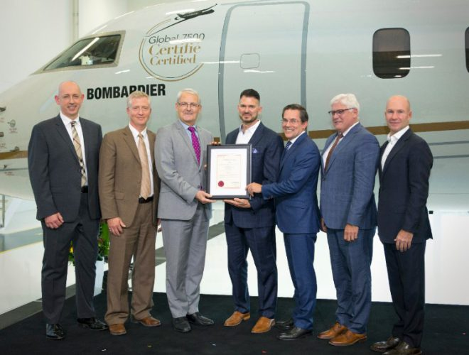 Global 7500 Type Certification