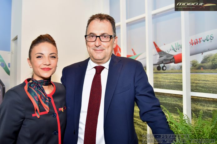 Giancarlo Celani & cabin crew - AlbaStar
