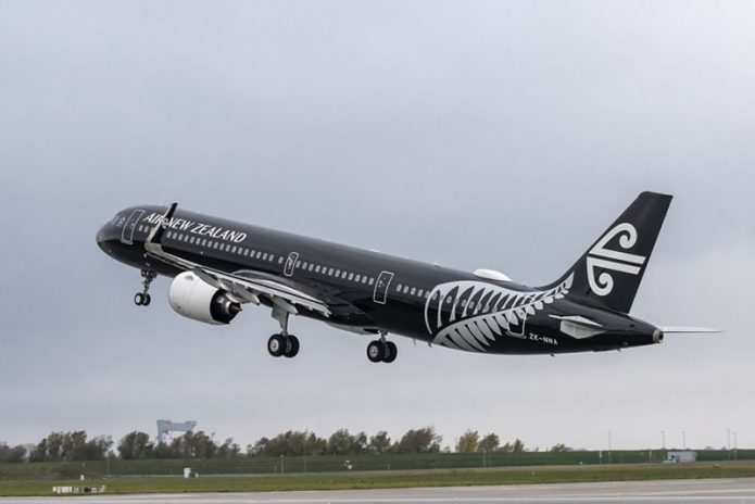 A321neo Air New Zealand takeoff