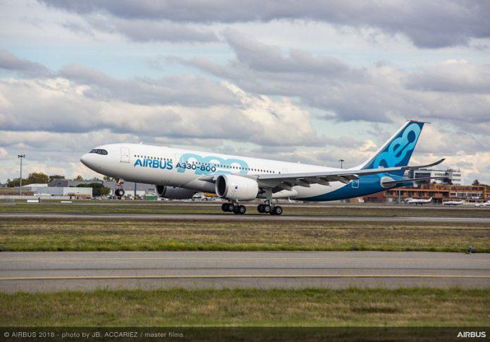 A330 800 first flight landing