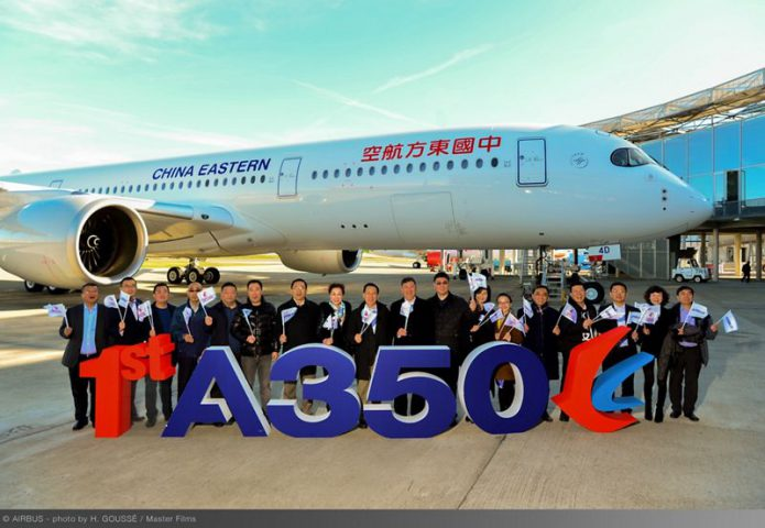 A350 900 First Delivery to China Eastern