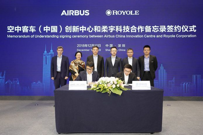 Airbus and Royole Technology