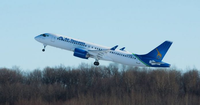Airbus delivers First A220 Air Tanzania