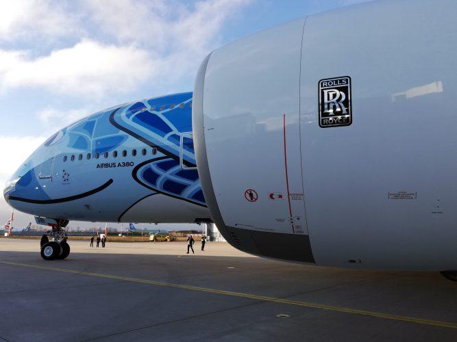 """Roll-Out ANA A380 """"flying Honu"""" - Hamburg - 12/12/2018"""