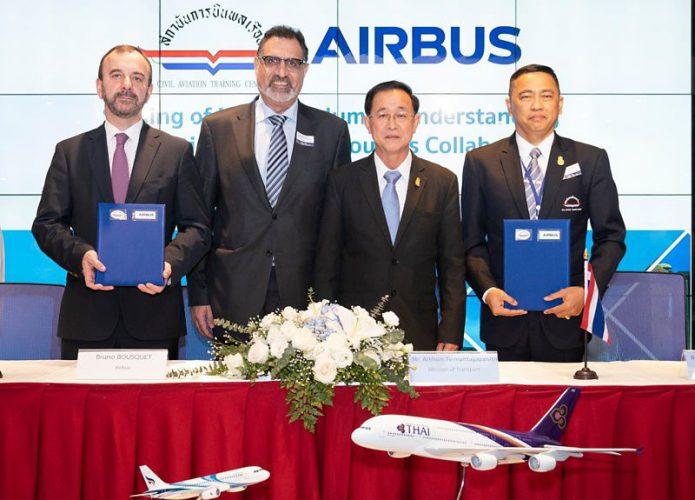 airbus and thailand catc to work on pilot maintenance training