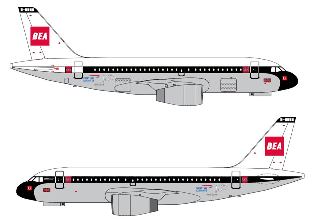 British Airways A319 BEA