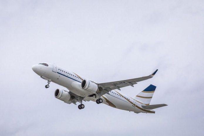 Comlux ACJ320neo in flight