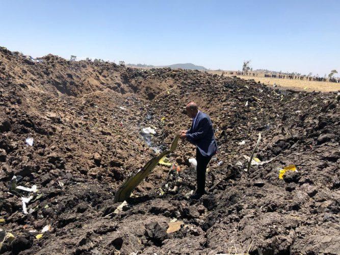 Ethiopian ET302 crash site