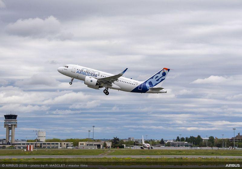 A319neo Airbus PW MSN6464 take off