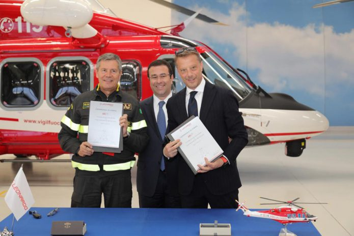 AW139 VVFF ceremony