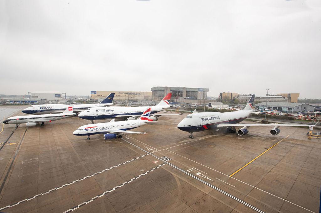 British Airways 4 Heritage Liveries