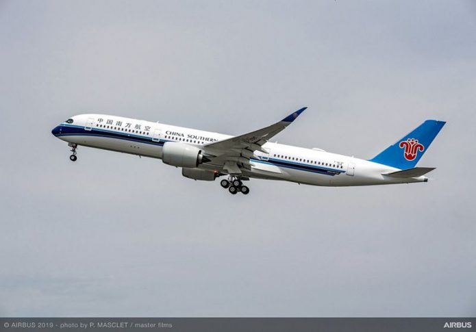 A350 900 China Southern Airlines take off