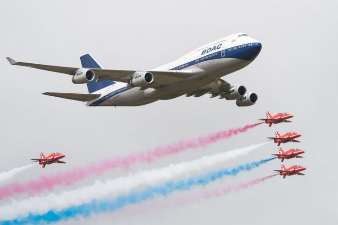 BA 747 BOAC Red Arrows