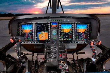 TH 119 cockpit