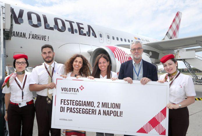 Volotea 2 milioni di passeggeri a Napoli