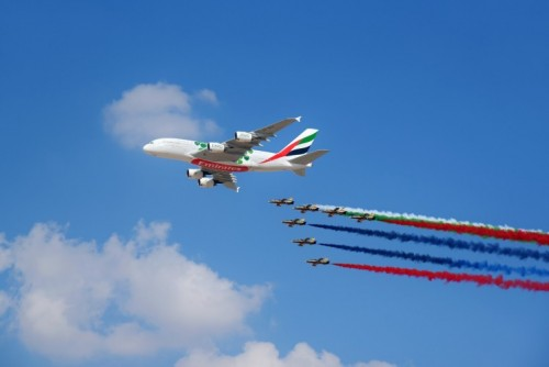 Dubai Airshow Flypast
