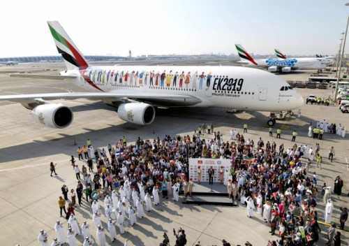 Emirates A380 Year of Tolerance