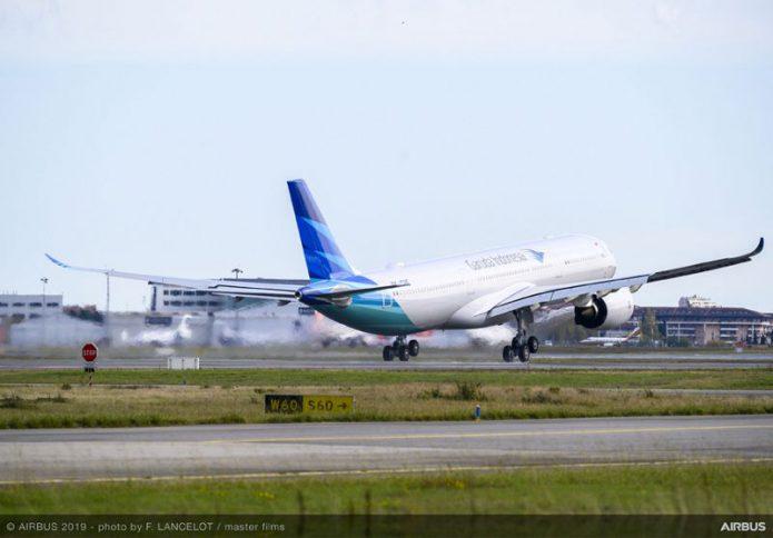 a330neo garuda indonesia delivery ferry flight 011