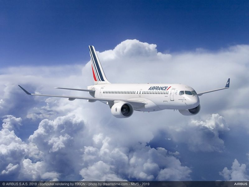 Air France-KLM conferma l'ordine per 60 Airbus A220