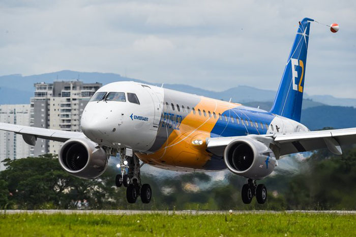 Embraer E175 E2 first flight