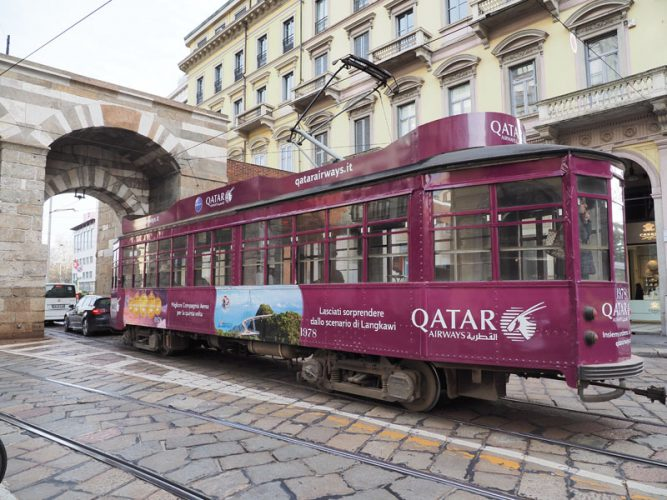 Qatar Airways Tram Milano