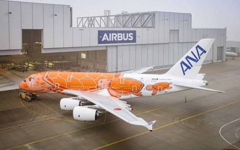 ana third A380 paint shop