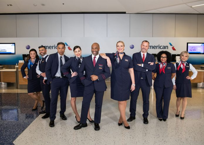 American Airlines New Uniforms Group Photo