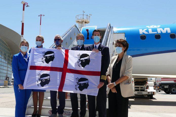 Arrivo volo KLM Equipaggio con AD e PR SOGAER
