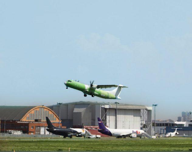 ATR Freighter First Flight