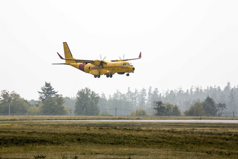 C295 FWSAR lands at 19 Wing Canadian Forces Base Comox in British Columbia