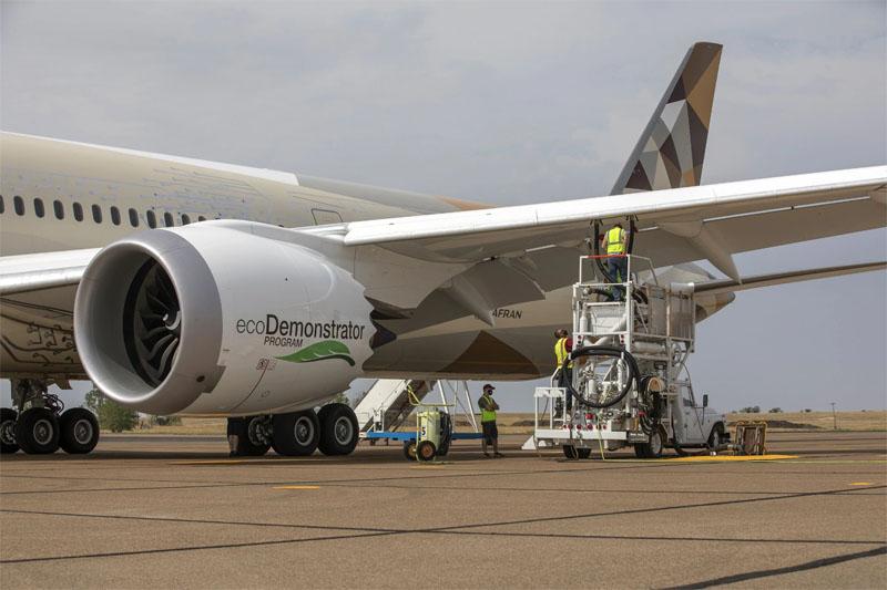 Etihad Boeing ecoDemonstrator SAF
