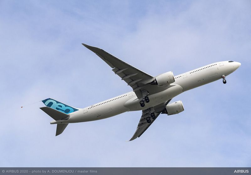 A330 900 new MTWO First Flight Take off