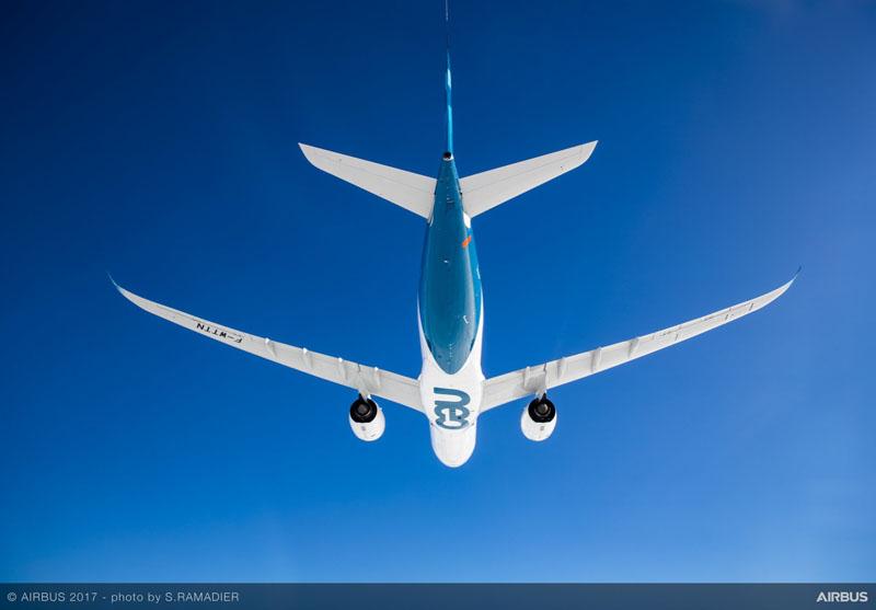 A330neo first flight in flight 039