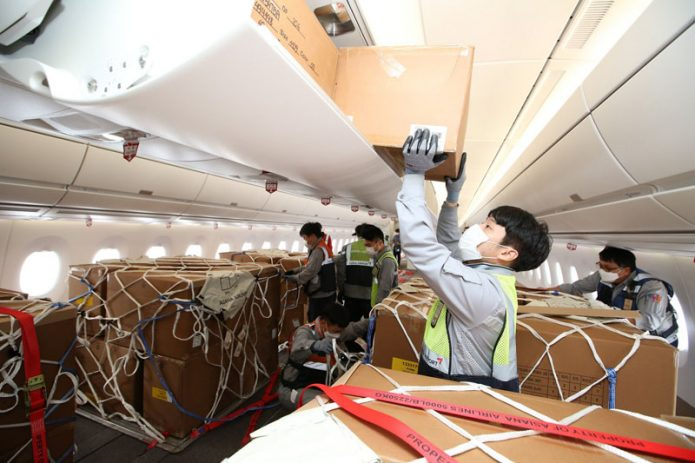 Asiana A350 Cargo After Modification Loading
