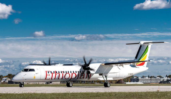 Dash 8 400 Ethiopian